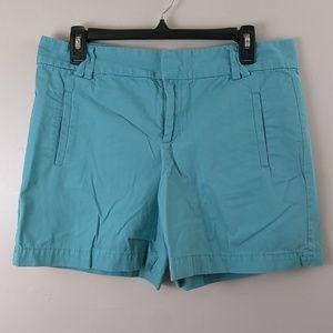 Ann Taylor Loft teal shorts size 6 100% cotton